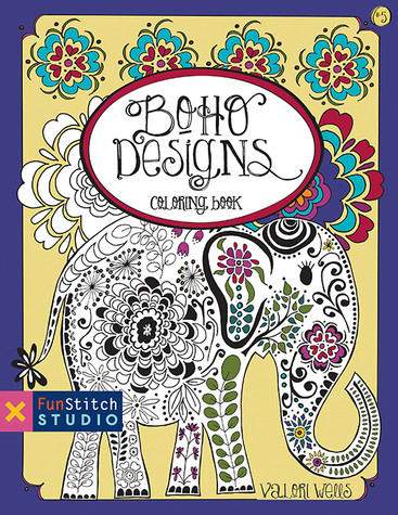 Boho Designs Coloring Book: 18 Fun Designs + See How Colors Play Together + Creative Ideas designs by Valori Wells #BohoDesigns