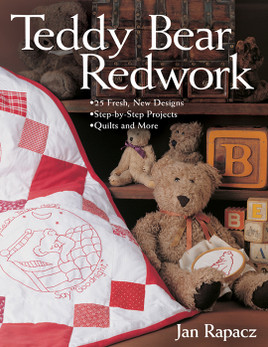 Teddy Bear Redwork Print-on-Demand Edition