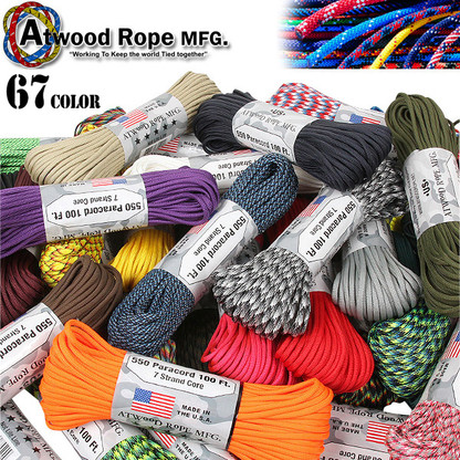 Atwood Rope Paracord | 550lb | 100ft | COLORS | PATTERNS