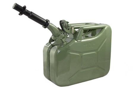 Jerry Can 10L GREEN EPA/CARB APPROVED - SOLD WITH NOZZLE
