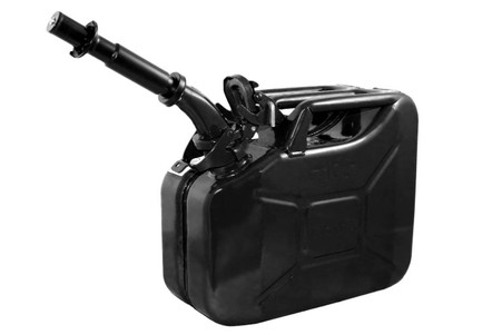 Jerry Can 10L BLACK EPA/CARB APPROVED - SOLD WITH NOZZLE