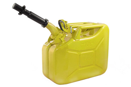 Jerry Can 10L YELLOW EPA/CARB APPROVED - SOLD WITH NOZZLE