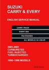 Suzuki Carry Truck & Every Van English Mechanical Service Manual