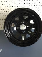 Black Steel Wheels, Set of 4, Bolt Pattern (4 on 100mm)