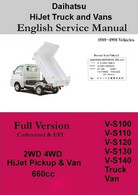 Daihatsu English Factory Service Manual Full Version JD-15