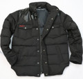 KG7100B - PU Leather  Down Jacket in Black