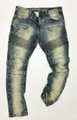 KG2660 MOTOR DENIM JEANS - BLUE Wash