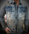 TINTED BLUE BUTTON DENIM JACKET KG7740