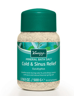 Cold & Sinus Relief Mineral Bath Salt: Eucalyptus