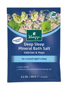 Deep Sleep Mineral Bath Salt Sachet: Valerian & Hops