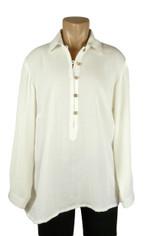 Fridaze Linen Pullover Shirt Ivory