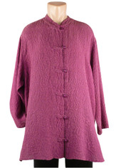 URU Clothing Silk Shirt in Orchid