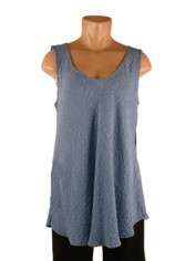 URU Clothing Bias Cut Silk Sleeveless Top Periwinkle