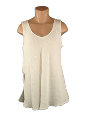 URU Clothing Bias Cut Silk Sleeveless Top Ivory