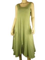 Cool & Chic Linen Dress by Color Me Cotton Light Moss
