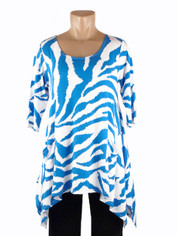 Cool Blue Animal Print Tunic