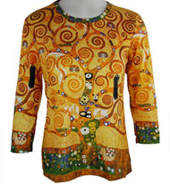 Tree of Life Klimt Art Image Top