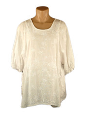 Cotton Embroidered Blouse byTianello in White