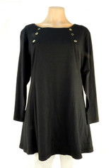 Color Me Cotton Laurie Top in Black