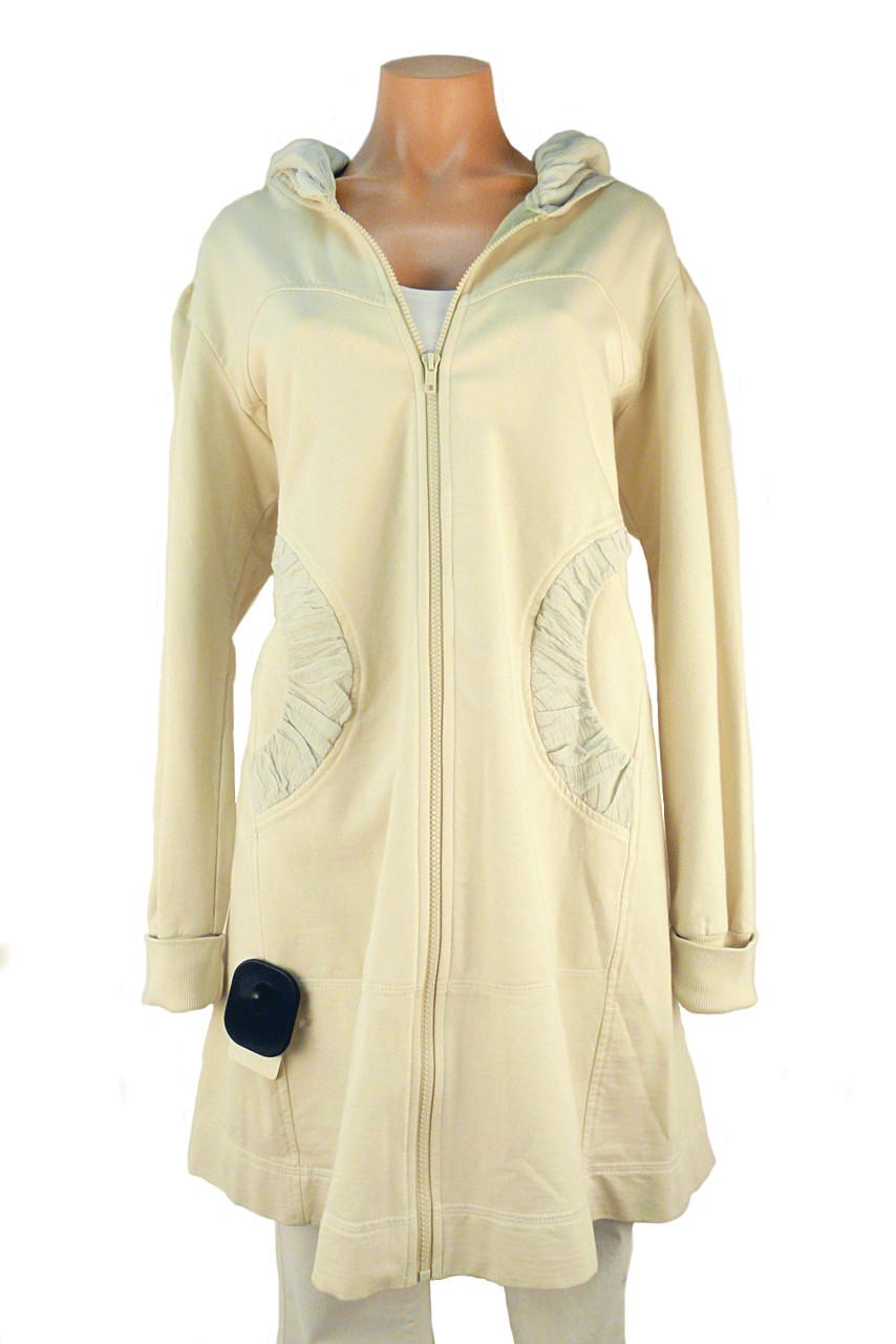 Color Me Cotton Long Hannah Jacket In Cream Arabella