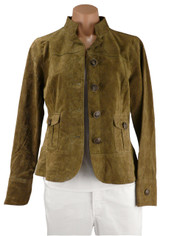 Genuine Suede Jacket in Olive by LAL