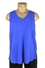 Tencel Sleeveless Becka Top in Electric Blue by Tianello