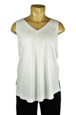 Tencel Sleeveless Becka Top in Cream by Tianello
