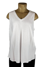 Tencel Sleeveless Becka Top in White by Tianello