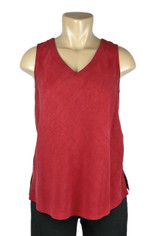 Tencel Sleeveless Becka Top in Red by Tianello
