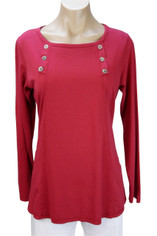 Color Me Cotton Laurie Top in True Red