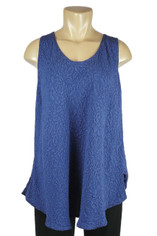 URU Clothing Bias Cut Silk Sleeveless Top Navy