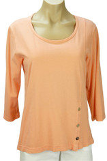 Supima Jersey Tenley Top by Color Me Cotton in Apricot