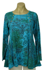 Cotton India Dreams Laurie Top in Blues by CMC Color Me Cotton