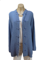 URU Clothing Silk Boat Coat in Periwinkle