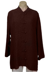 URU Clothing Silk Boat Coat/Blouse in Chocolate Brown