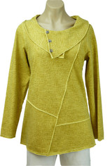 CMC Color Me Cotton French Terry Pullover Top in Yellow
