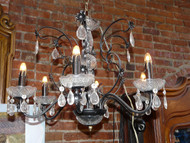 Chandelier Vintage Crystal Black