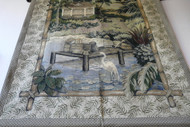 Wall Tapestry Peaceful Pond with Crane