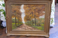 Antique Oil Painting Autumn Scene