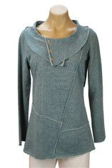 Color Me Cotton CMC Tunic Pullover in Dusty Aqua Blue