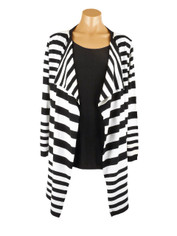Drape Front Stripe Sweater