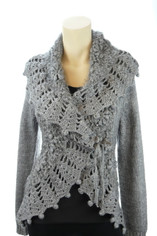 Wrap Front Eileen Sweater in Gray