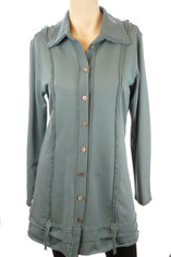 Color Me Cotton French Terry Teal Green Shirt