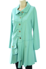 Color Me Cotton Alissa Coat in Aqua