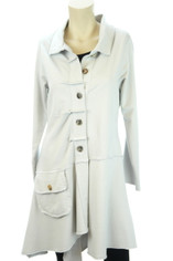Color Me Cotton Alissa Coat in Dove Grey