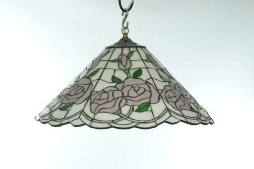 Soft pink roses vintage stained glass chandelier vintage stained glass chandelier image 1 aloadofball Gallery