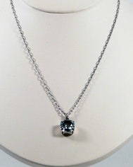 La Vie Parisienne Crystal Drop Necklace Ice Blue Silver Chain