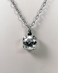 La Vie Parisienne Crystal Drop Necklace in Clear Crystal Silver Chain