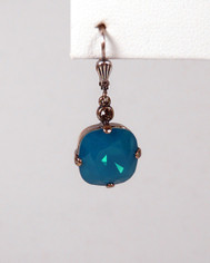 La Vie Parisienne Large Earrings Bright Blue Crystal