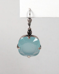 La Vie Parisienne Large Drop Earings Ice Blue Opal Crystal